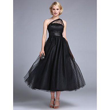 TS Couture® Prom / Formal Evening / Wedding Party Dress - 1950s / Vintage Inspired Plus Size / Petite A-line / Princess One Shoulder Ankle-length – USD $ 99.99