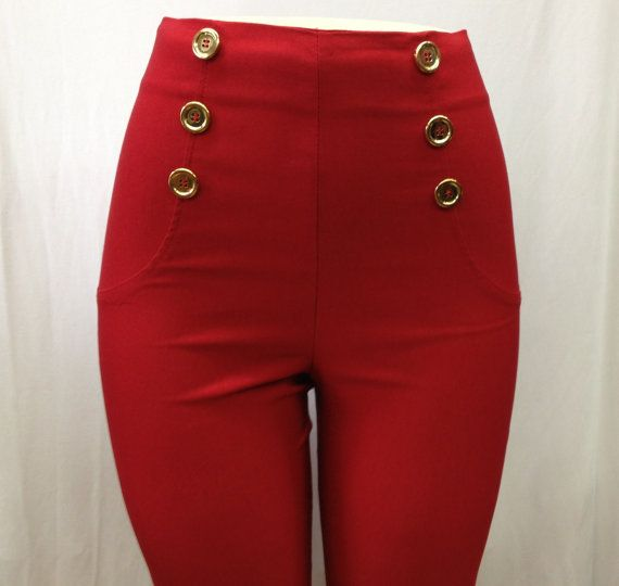 Simple  Jeans Cut Pants With Zipper Fly Plain Hems No Front Pockets Back
