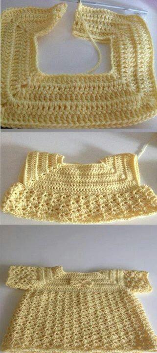 vestidito bebé en crochet