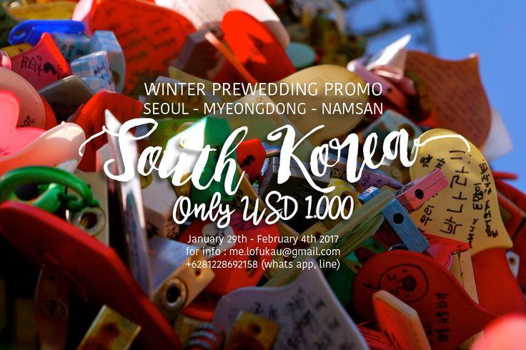 Sekarang bagaimana untuk pasangan yang ingin melakukan pre wedding di Korea Selatan ?? Tentu saja Seoul dan sekitarnya merupakan lokasi yang tepat untuk melakukan pre wedding. Segala sudut kota disana begitu indah dan photogenic. Kalian pun bisa datang sesuai dengan musim yang menjadi menjadi tema dan konsep prewedding kalian. more info : me.lofukau@gmail.com +6281228692158 www.lofukau.com