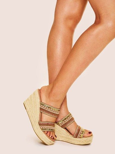 3cfb0602ae5 Tribal Chevron Pattern Wedges in 2019
