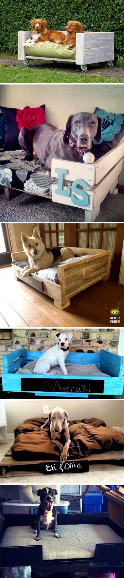 DIY pallet beds for pets! I love love love Pet beds!