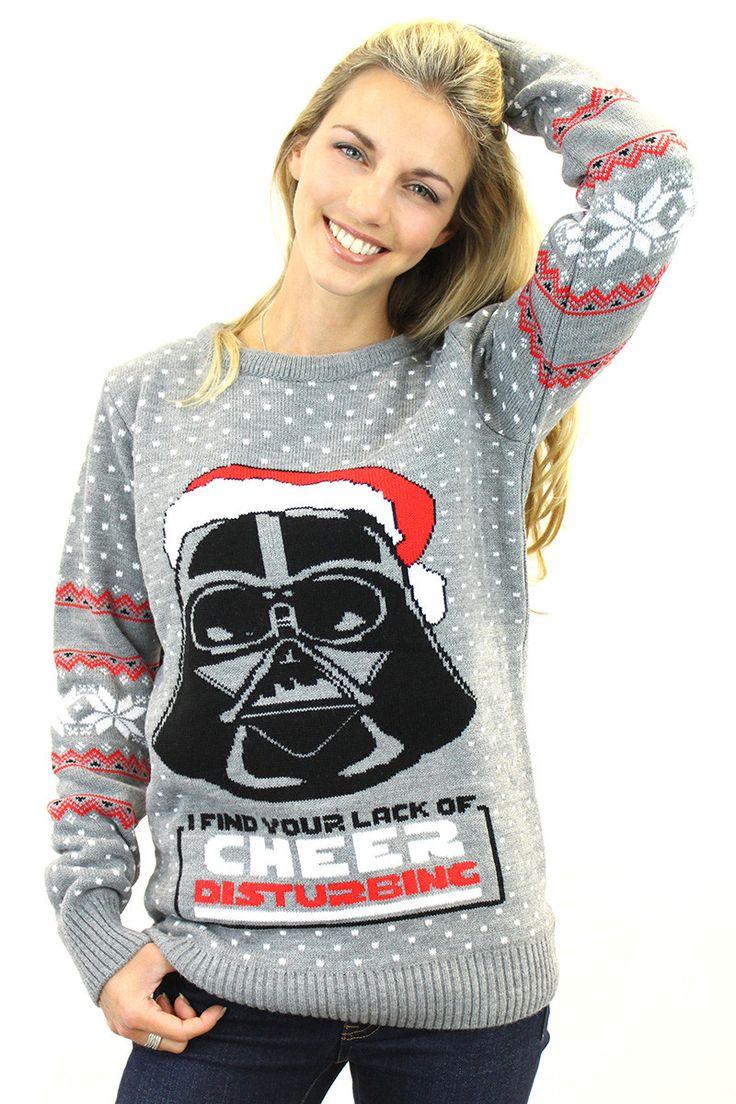 Star Wars Official Darth Vader Knitted Christmas Jumper - BAY 57 - 2