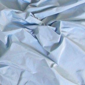 Icy blue silk taffeta