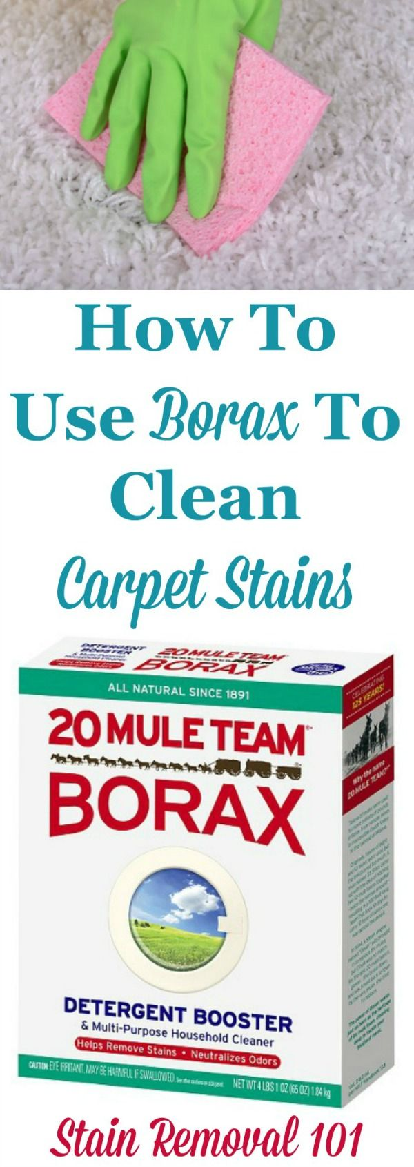 How to use borax to clean and remove stains from your carpet {on Stain Removal 101}