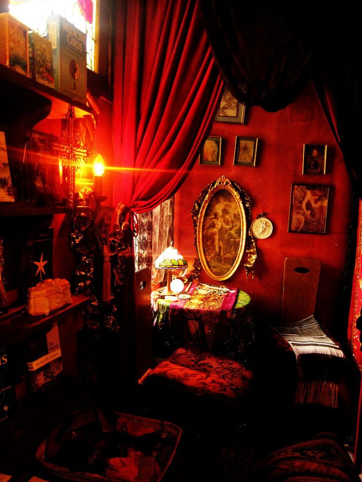 witches room | Decor, Witch room, Red rooms