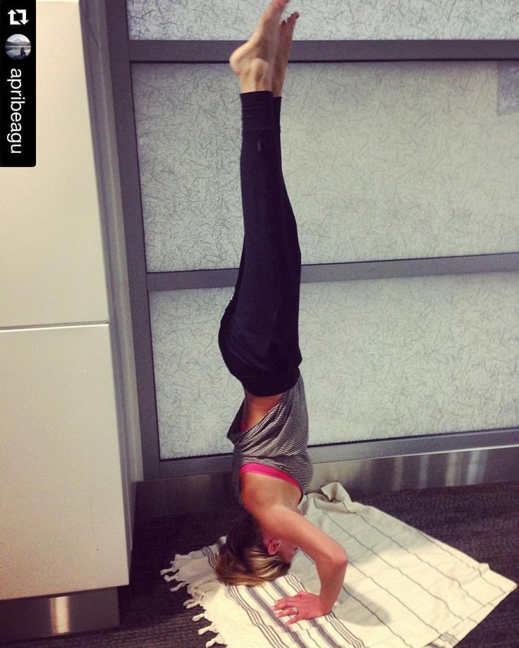 "Instagram => ""Repost @apribeagu ・・・ Still stuck in an airport...so I thought I would work on some headstands. My workouts have been focused on endurance and strength because I have been preparing my body for climbing some mountains. I noticed my flexibility (which is almost nonexistent) was getting worse as my strength was building. @alexaramseier you inspire me in so many ways. I've seen your dedication and your crazy yoga progress and you have motivated me to work on somethi"