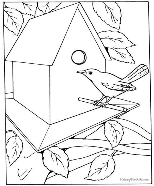vtáčia búdka a dom omaľovánky http://www.raisingourkids.com/coloring-pages/fun-places/house/