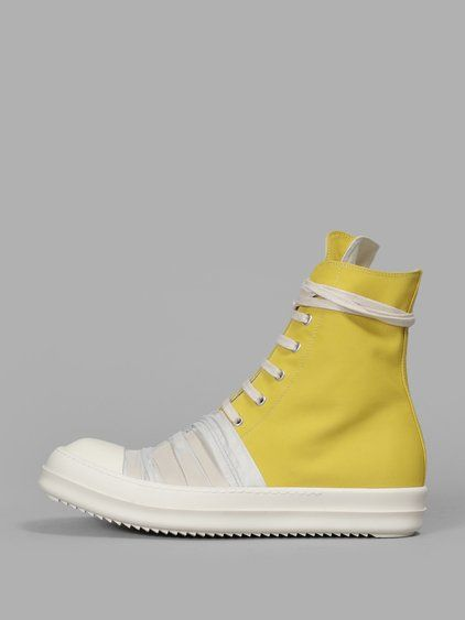 RICK OWENS DRKSHDW Rick Owens Men'S Yellow Vegan Sneakers. #rickowensdrkshdw #shoes #sneakers