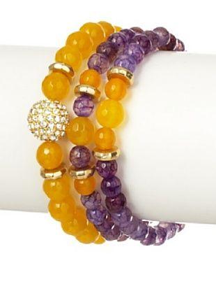 Devoted Jewelry Agate & Jade Stretch Bracelet Set