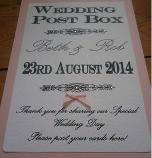 how to make a wedding post box
