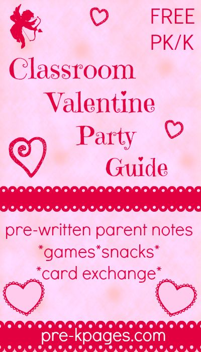 FREE Printable Valentine Classroom Party Guide for Preschool and Kindergarten