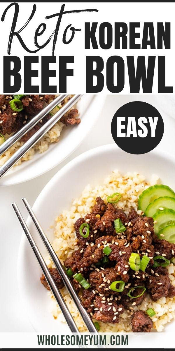 Easy Keto Korean Ground Beef Bowl Recipe In 2020 Beef Bowl Recipe Recipes Ground Beef Bowl Recipe