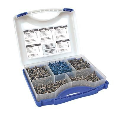 This kit contains five of the most popular self-tapping pocket-hole screws for Kreg Joinery™ in a durable, easy-to-carry case. It makes a great starter kit for anyone new to Kreg Joinery™. Includes:15