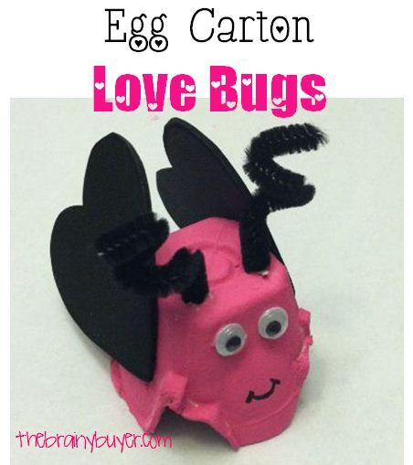 Fun Valentine S Day Craft For Kids Egg Carton Love Bugs 3