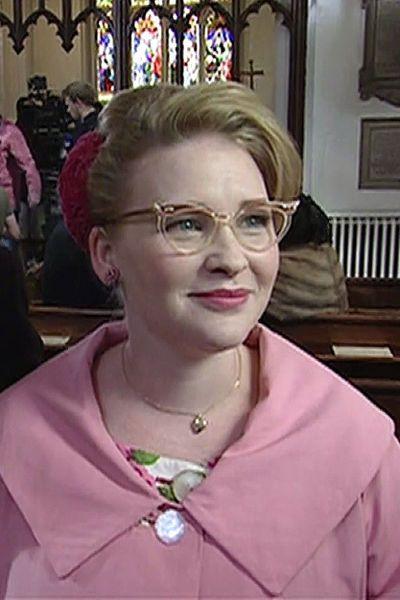 Vintage eyeglasses worn by Joanna Page as Lily Enderbury in Breathless (2013 ITV)
