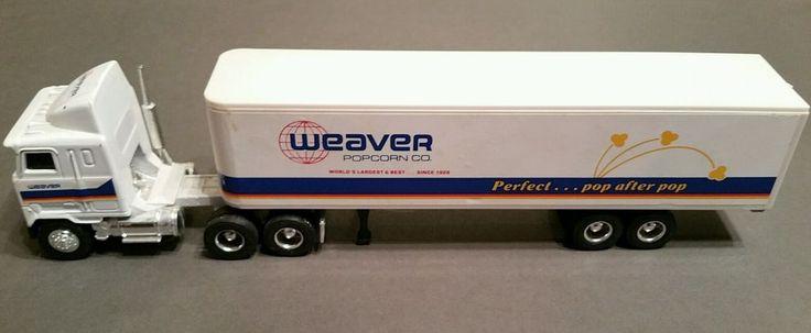 Ertl Die Cast Truck 1:64 Scale Weaver Popcorn Co. Mack Ultra-Liner with Sleeper #Ertl #Mack