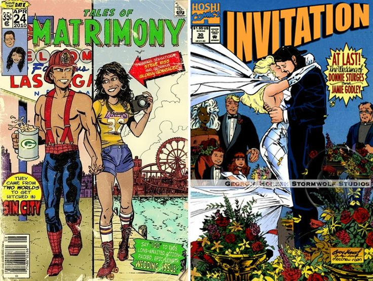 comic book wedding