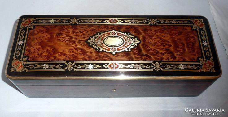 Francia Tahan boulle kesztyűtartó doboz 1850'