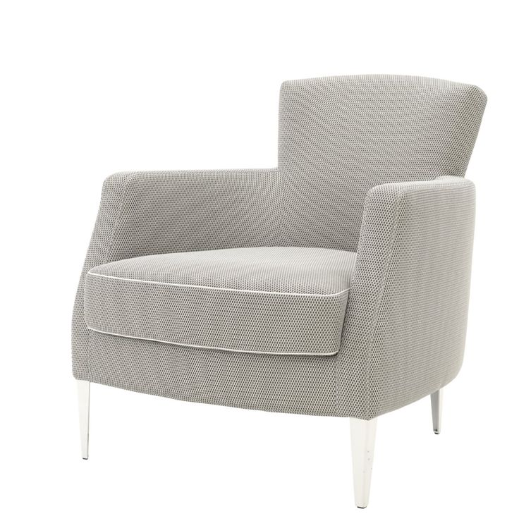 VINTA armchair Design: Didier Gomez This chair is  is quite classic, yet with a contemporary twist: white or black steel feet and the option of a fine white or black piping defining the seat.  W 68 x D 75 x H 73, this dinky chair is a useful addition to Ligne Roset's range.
