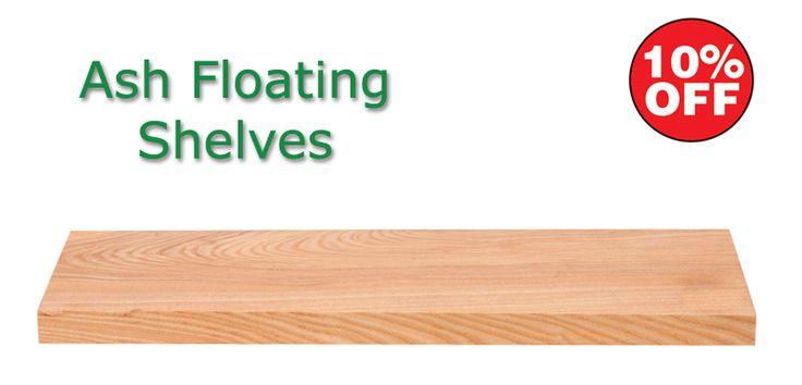 Ash Floating Shelves