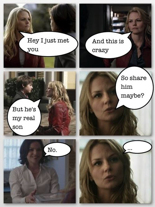 Emma, you never asked Regina to share Henry. You literally just took him.