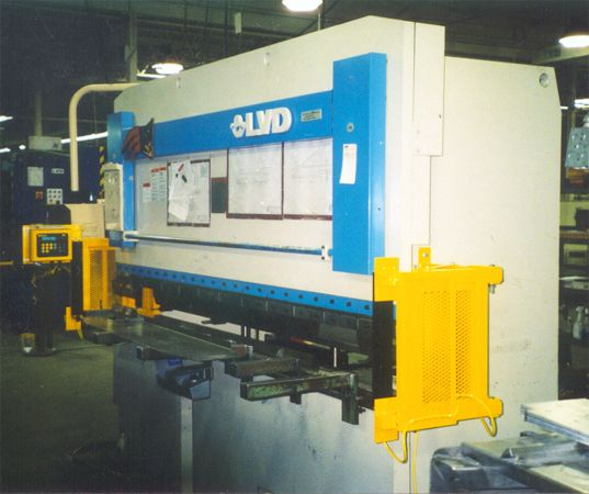 ISB MX Light Curtain mounted on a LVD press Brake