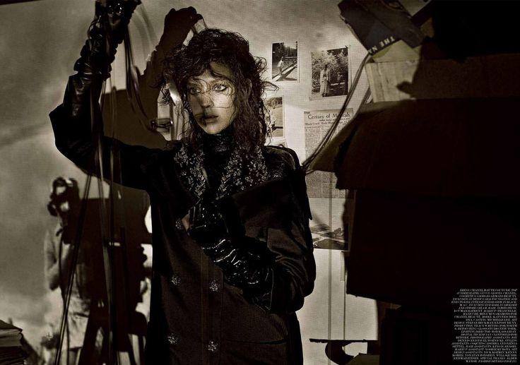 Kati Nescher by Fabien Baron for INTERVIEW JUNE/JULY 2013