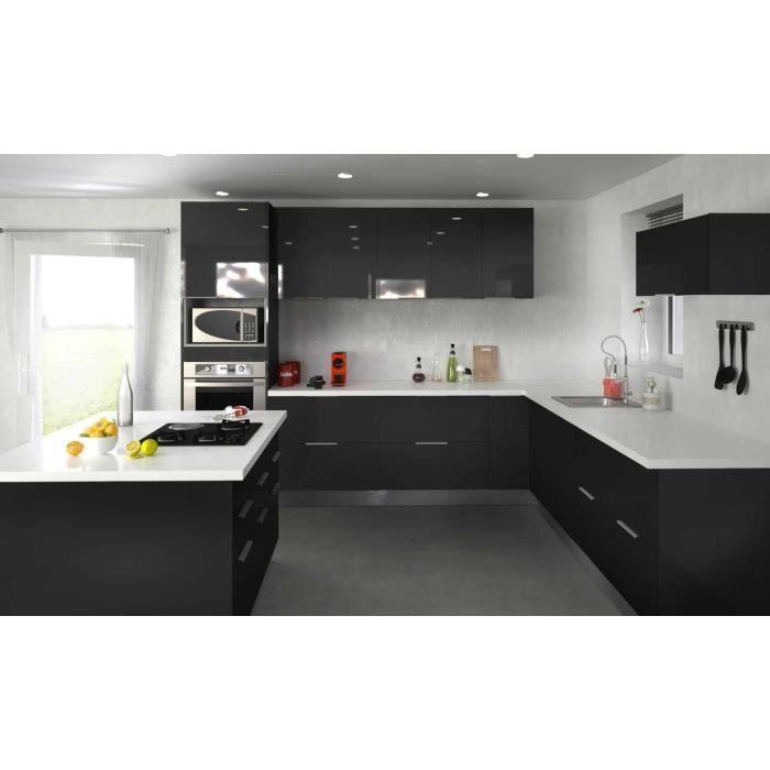 Cuisine Type 10 310cm 310cm Noir Cuisine Complete En 2020 Cuisine Complete Tiroir Cuisine Et Chaise Cuisine