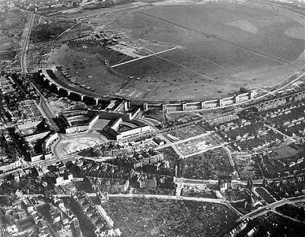 Aerial View of Tempelhof Airport in 1945 - My Destination Berlin
