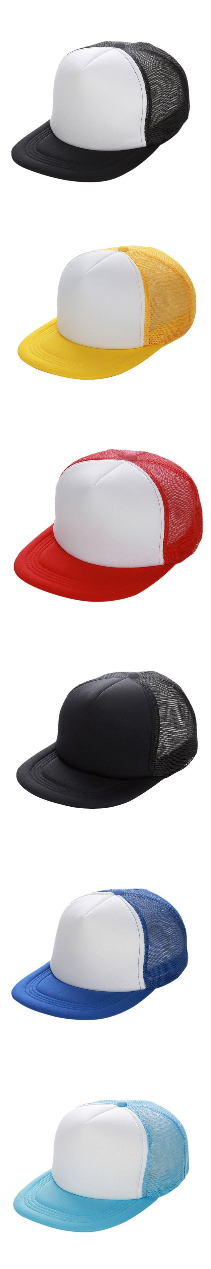 Unisex Mesh Women's Men's Baseball Caps Hats Blank Visor Adjustable Women's Sun Hats
