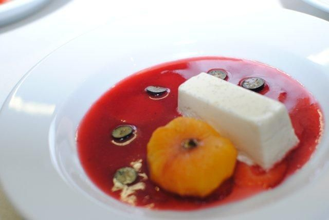 Dessert created by Reuben Riffel at the Plascon Double Velvet Birthday Competition dinner