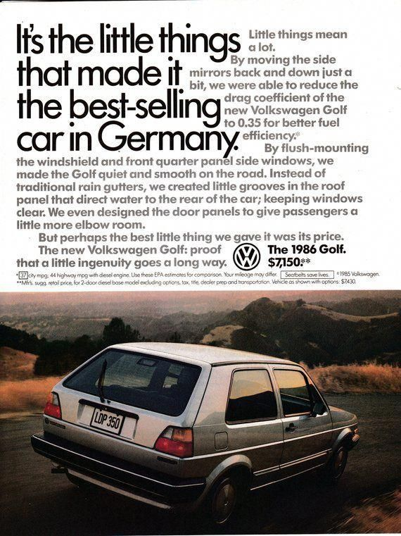 5673da6b44 1986 VW Volkswagen Golf Best Selling Car In Germany Cost   Volkswagonclassiccars