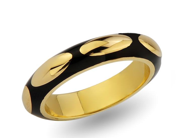 black enameled wedding ring / alyans