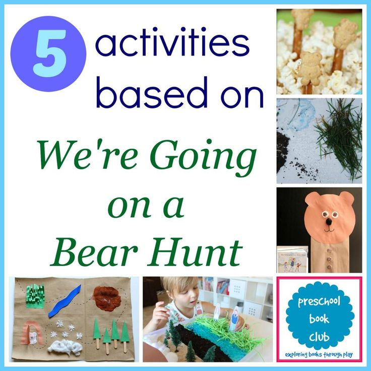 5 fun activities inspired by Were Going on a Bear Hunt