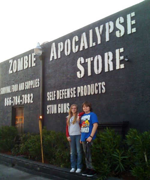 Zombie Apocalypse Store - ah shit, I know where my next shopping trip will be. @Andre Blanchette-Dube @Elyse Young