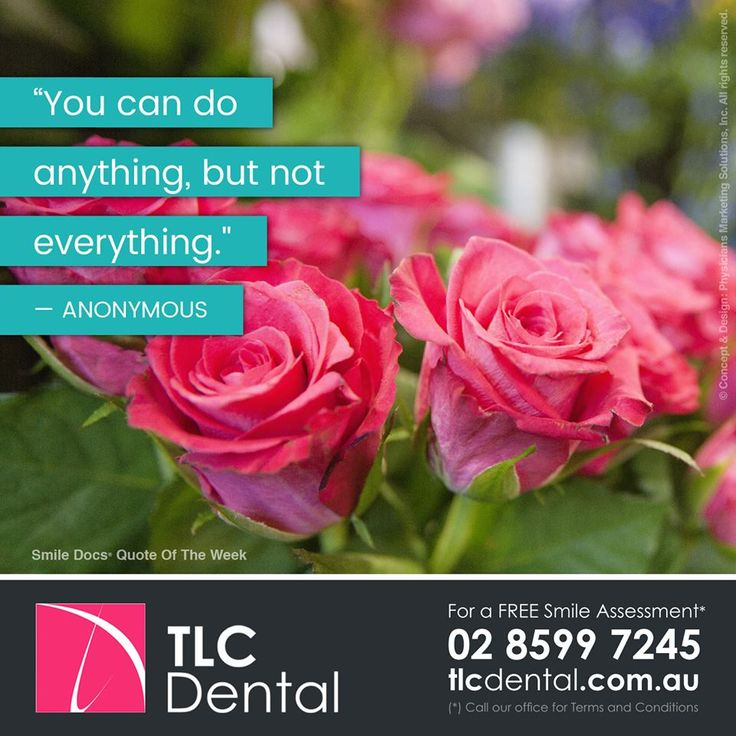 "#InspirationalQuote — ""You can do anything, but not everything."" —Anonymous / For a Free Smile Assessment*, please call 02 8599 7245 - www.tlcdental.com.au / (*) Please call our office for Terms & Conditions. #SmileDocs #SmileDeals #drhoffenberg #tlcdental #dental #practice #cosmetic #tmj #invisalign #whitening #filler #care #dentist #porcelain #crowns #veneers #dental #implants #clear #braces #teeth"