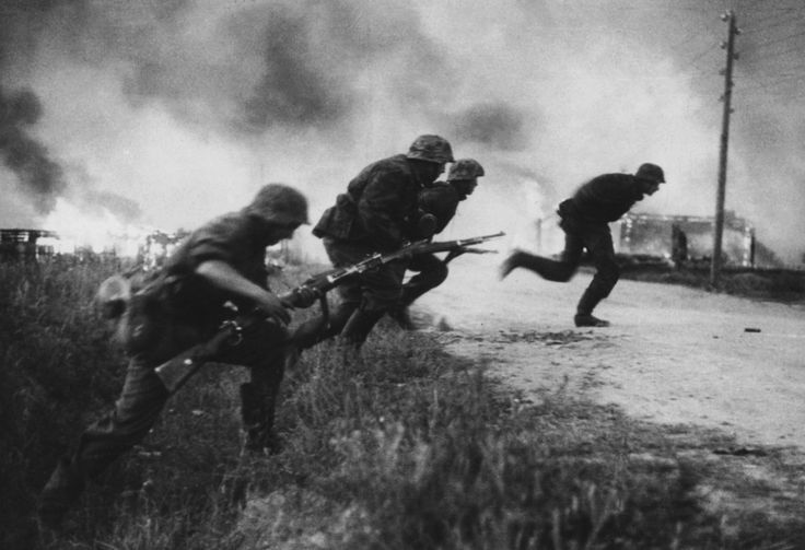 "5sswiking: ""An advance party from the Das Reich Division has encountered another Soviet defensive position during Operation Barbarossa in 1941. The men dismount from their vehicles to move forward in..."