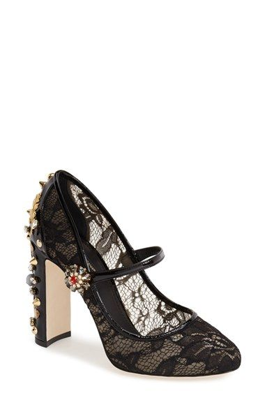 Dolce&Gabbana Lace Mary Jane Pump (Women) available at #Nordstrom