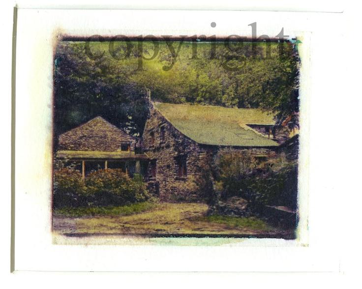 Polaroid Transfer by Silvana Robinson lake district watermill