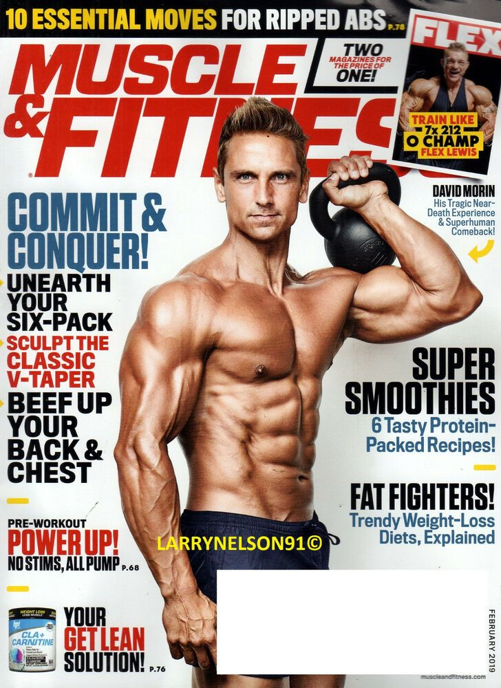 a6cfd45103 MUSCLE   FITNESS MAGAZINE FEBRUARY 2019 FLEX LEWIS DAVID MORIN FAT FIGHTERS  BEEF