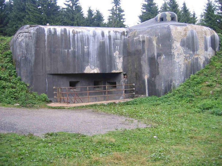 Schweres Bauwerk des Tschechoslowakischen Walls