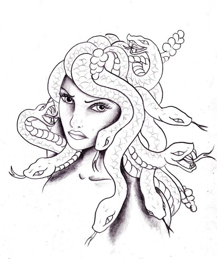 так медуза горгона рисунки взял руку