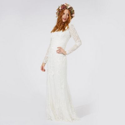 Nine by Savannah Miller Ivory 'Eligenza' lace bridal dress   Debenhams - what do think? X