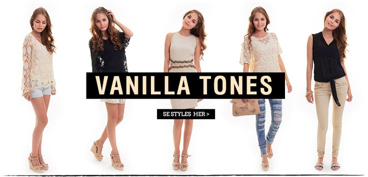 Vanilla tones - Black and white style outfits