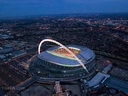 Image result for wembley exterior at night