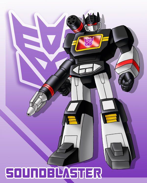 Retro Transformers G1 Soundblaster Decepticon 80/'s Magnet Art