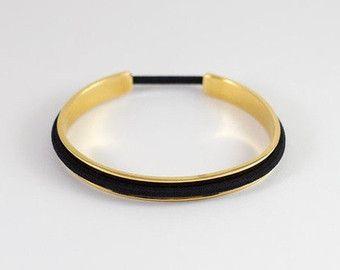 Haare binden Armband Manschette in Gold und Rose von TheBangleBear