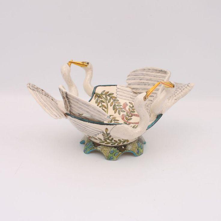 Ardmore White Heron Bowl