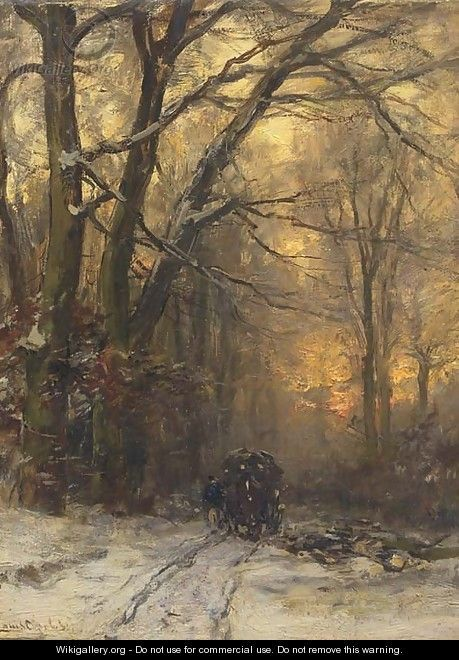 Passing through a forest in winter - Louis Apol